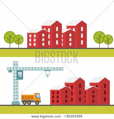 Construction site. Under construction. Building business. Construction industry eps10