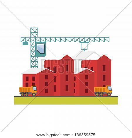 Construction site building a house. Under construction eps10