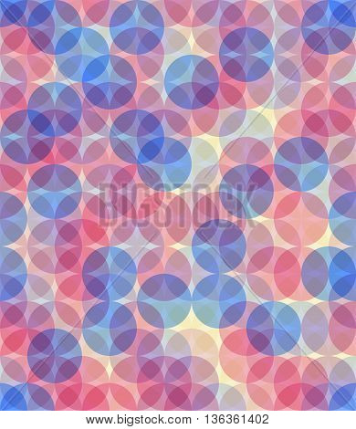 Pastel colors circle seamless pattern. Trasnparent object eps10