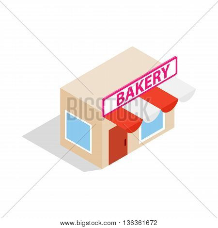 Pastry shop icon in isometric 3d style isolated on white background. Baking symbol