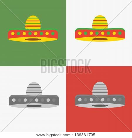 Vector set of mexican sombrero hat eps10