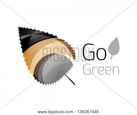Shiny leaf icon. Vector illustration