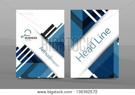 Cover design of annual report cover brochure, Vector modern abstract background template, layout A4 size page