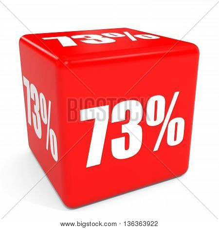 3D Red Sale Cube. 73 Percent Discount.