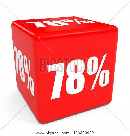 3D Red Sale Cube. 78 Percent Discount.