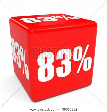 3D Red Sale Cube. 83 Percent Discount.