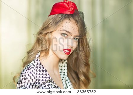 Sexy Woman In Garrison Cap