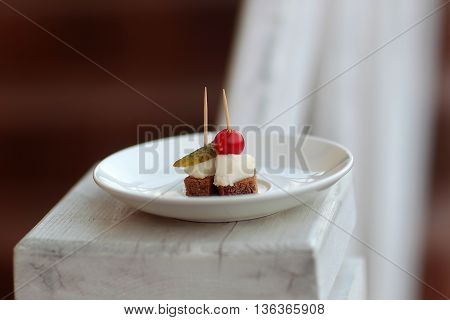 Canapes With Lard
