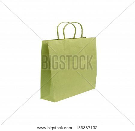 Paper bag isolated on white background texture