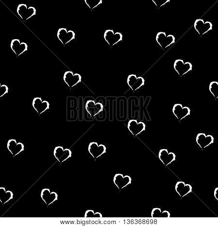 Heart white seamless pattern. Fashion graphic background design. Modern stylish abstract texture. Colorful template for prints textiles wrapping wallpaper website etc. VECTOR illustration