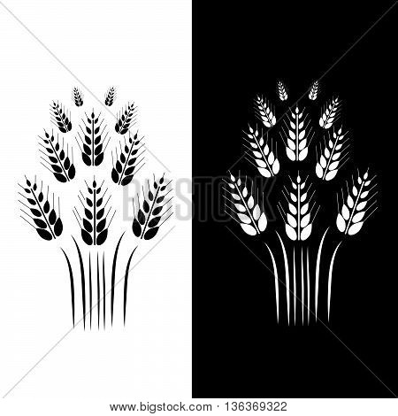 Ears of Wheat icons. Can use for bread packaging beer labels packages of flour etc. Vector illustration.