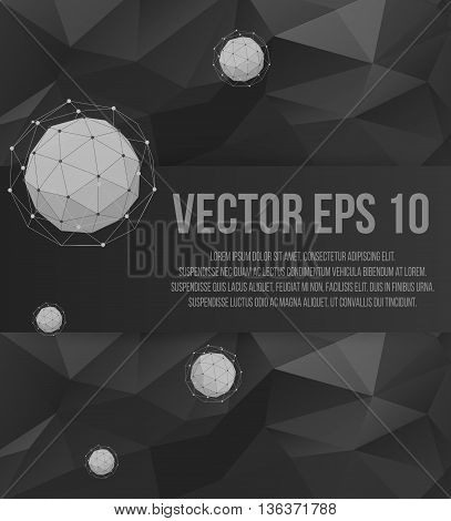 Abstract Creative concept vector background of geometric shapes from triangular faces. Polygonal design style letterhead and brochure for business. EPS 10 vector illustration