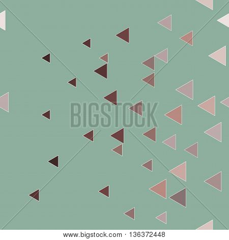 Triangle chaotic seamless pattern. Fashion graphic background design. Modern stylish abstract monochrome texture. Template for prints textiles wrapping wallpaper website etc. VECTOR illustration