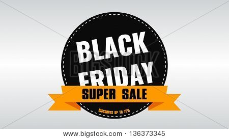 Black Friday banner. Sale. Discounts. Shares. Label Design Black Friday. Rasterized Copy.