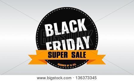 Black Friday banner. Sale. Discounts. Shares. Label Design Black Friday. Rasterized Copy.