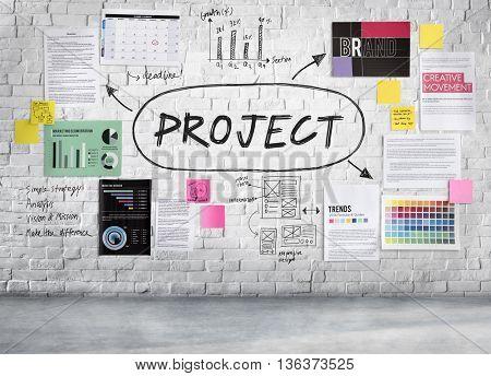 Project Collaboration Enterprise Operation Predict Concept