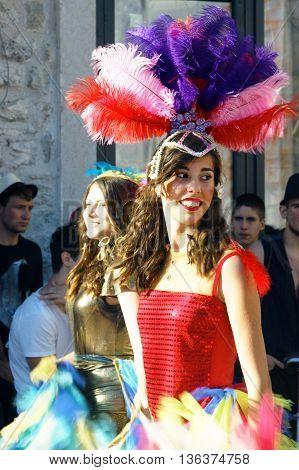 Montenegro, Herceg Novi - 04/06/2016: A dancer from the club