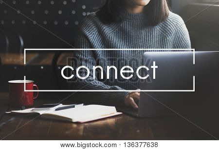 Connect Social Networking Interconnection Communication Concept
