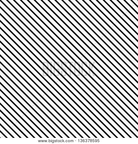 Line diagonal black seamless pattern. Fashion graphic background design. Modern stylish abstract texture. Monochrome template for prints textiles wrapping wallpaper website. VECTOR illustration