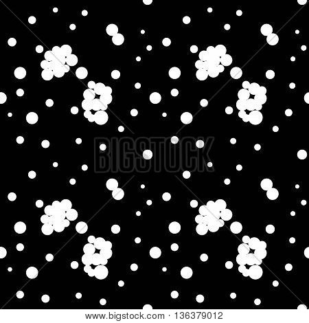 Polka dot chaotic seamless pattern. Fashion graphic background design. Modern stylish abstract texture. Monochrome template for prints textiles wrapping wallpaper website etc. VECTOR illustration
