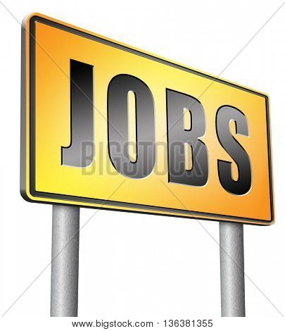 job search vacancy jobs online application help wanted hiring now ad advert advertising road sign billboard
