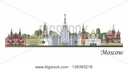 Moscow Skyline Colored