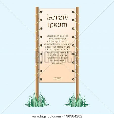 A set of frame with sample text or image