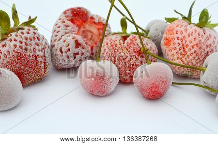 Frozen berries - strawberries and cherries. Vitamins for the winter - the workpiece