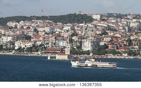 Bosphorus Strait coast of Istanbul City Turkey