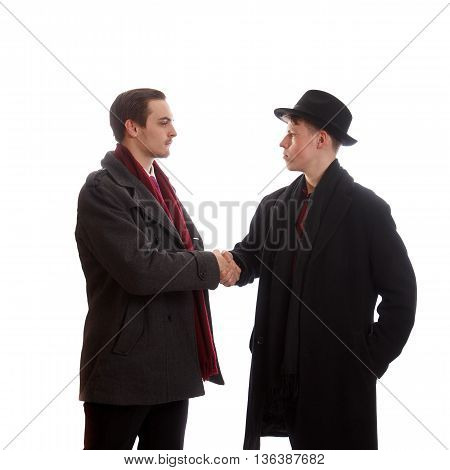 A handshake between two businessmen for a deal