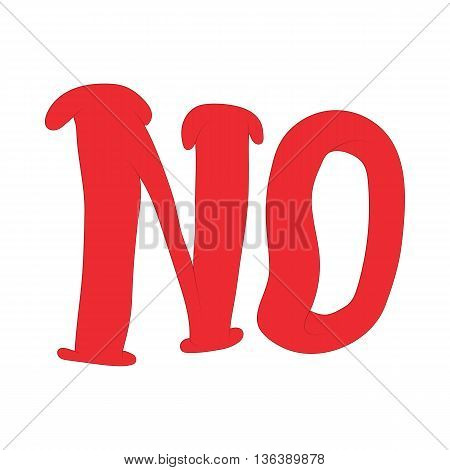 No inscription icon in cartoon style isolated on white background