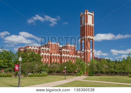 Campus Clock Tower And Bizzel Memorial Library