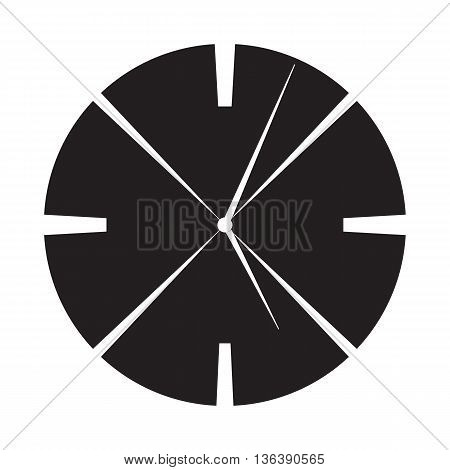 illustration of a modern clock face design