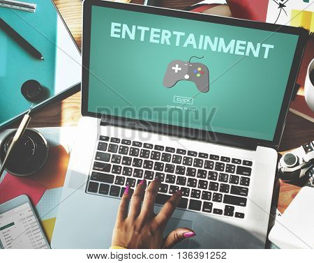 Gaming Entertainment Fun Hobby Digital Technology Concept