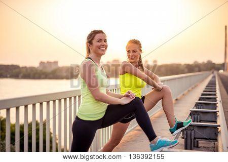 Doing Exercises On The Bridge
