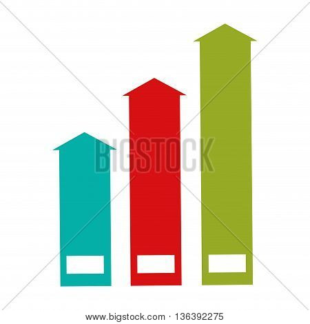 simple flat design colored arrows pointing up icon vector illustration