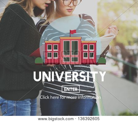 University College Diploma Degree Education Concept