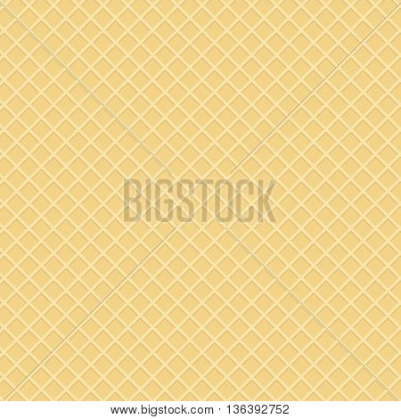 wafer background or waffle dessert template vector