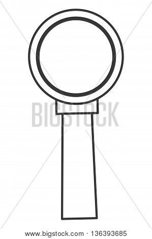 simple black line magnifying glass icon vector illustration