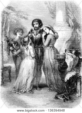 Ages, vintage engraved illustration. Magasin Pittoresque 1852.