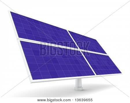 Solar panel isolated over a white background