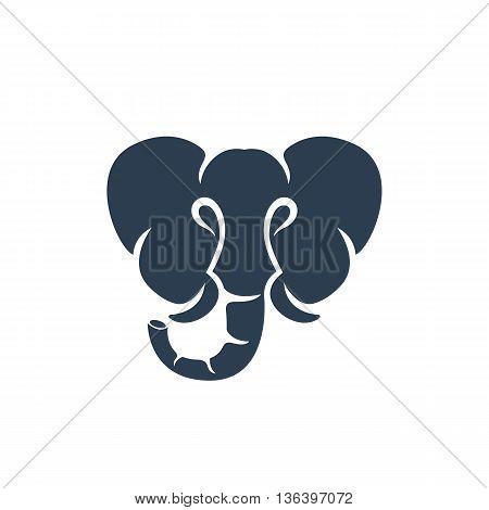 Elephant logo on white background. Elephant logo template. Vector illustration - stock vector