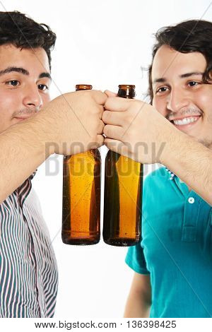 Cheersing Two Young Man