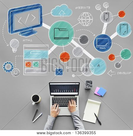 Website Technology Online Connection Concept