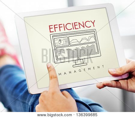 Business Efficiency Evaluate Strategy Management Concept