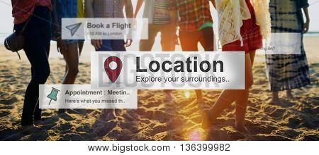 Location Journey Travel Destination Concept