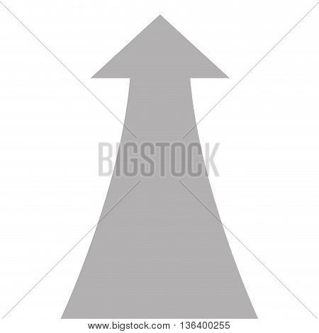 simple flat design grey arrow pointing up icon vector illustration