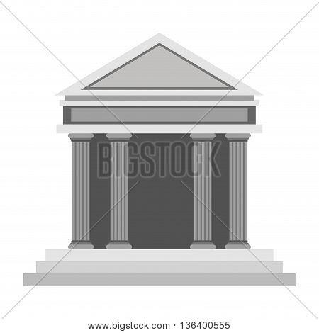 simple flat design ancient greek building icon vector illustration