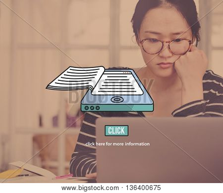 E-books Education Eletronic Information Reading Concept
