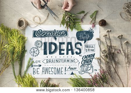 Ideas Inspire Creative Thinking Motivation Concept